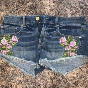 American Eagle Outfitters Embroidered Shorts.